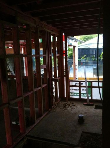 New bathroom extension- Mt. Eden- July 2012- Before