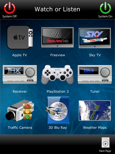 I Pad remote activity setup