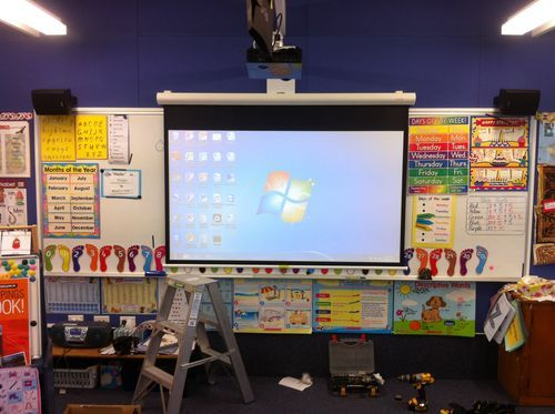 School projector and interactive board