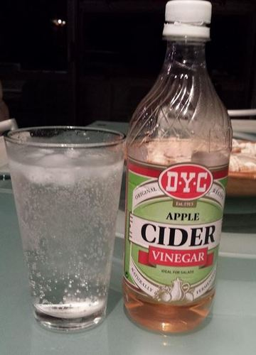 NZ Apple Cider Vinegar and fresh soda water from my soda stream - refreshing and healthy!