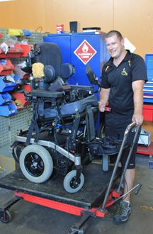 Restoring and building wheel chairs