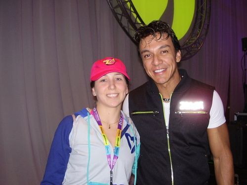 Celeste with Beto Perez- creator of Zumba