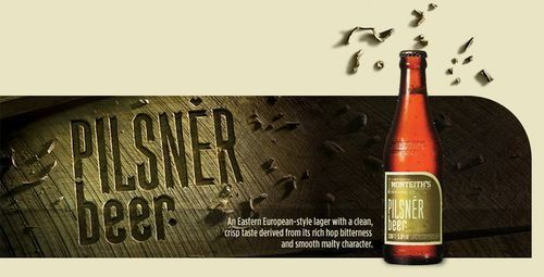 Pilsner Beer - European style lager with smooth malt