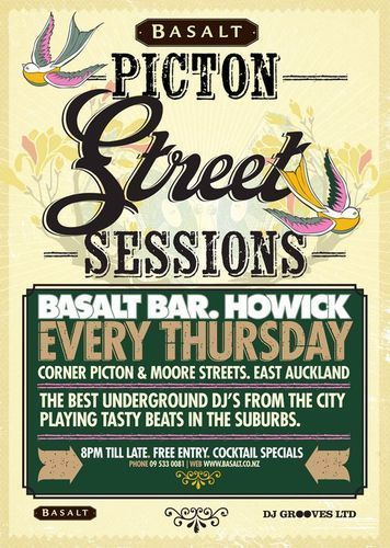 Underground DJ's for Picton Street Thursdays