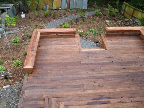 Split level deck with 140 mm Kwila decking- After