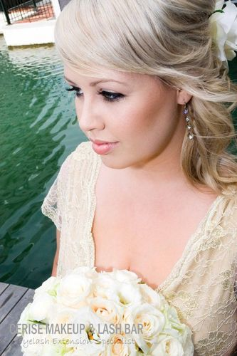 Gorgeous bridal makeup and lashes