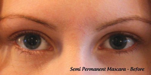 Before: semi-permanent mascara