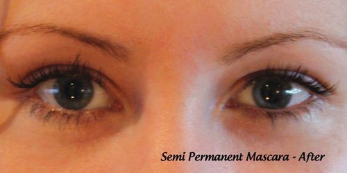 After: semi-permanent mascara