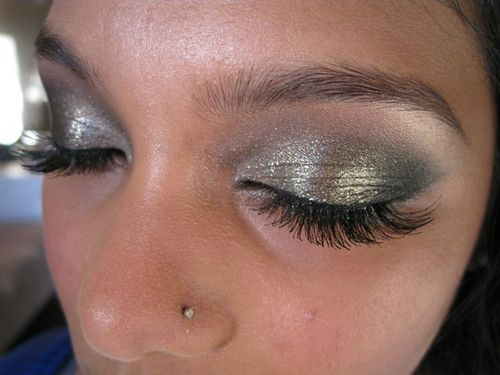 Special occasion makeup and temporary lashes