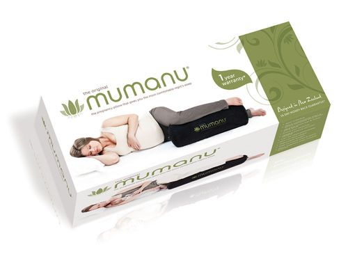 The gorgeous new packaging for the Mumanu Pregnancy Pillow has arrived!