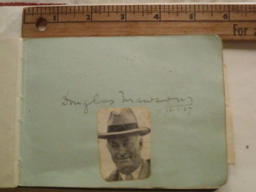 $900 to $1200 signature of Douglas Mawson Antarctic explorer 4/sale.