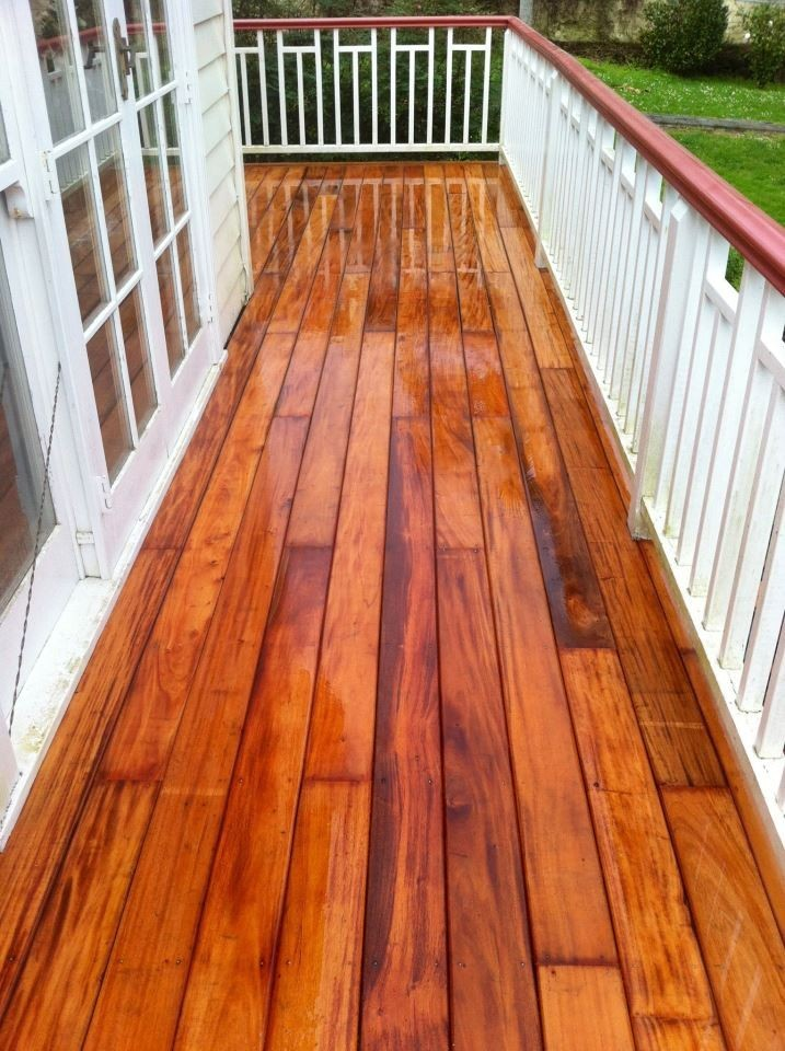 New Mahogany Decking August 2012- After