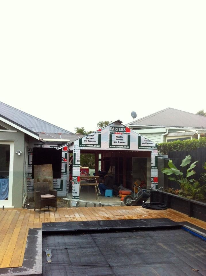 Home extension in Mt. Eden- July 2012- Work in progress