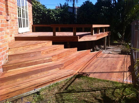 Split level deck - After