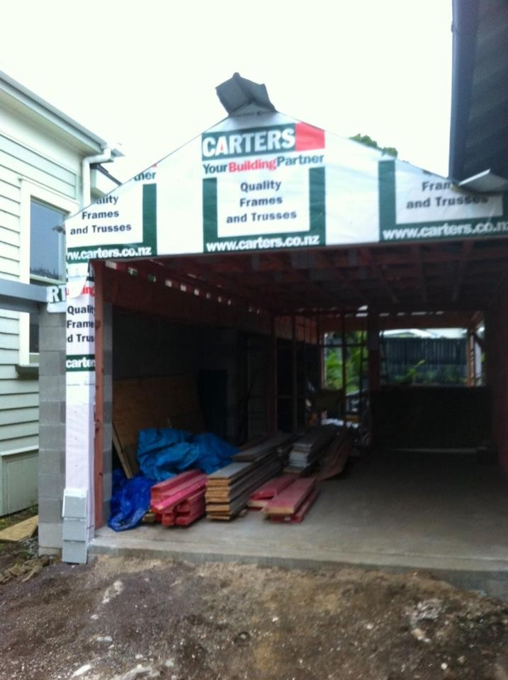Garage extension- Mt. Eden- July 2012- After