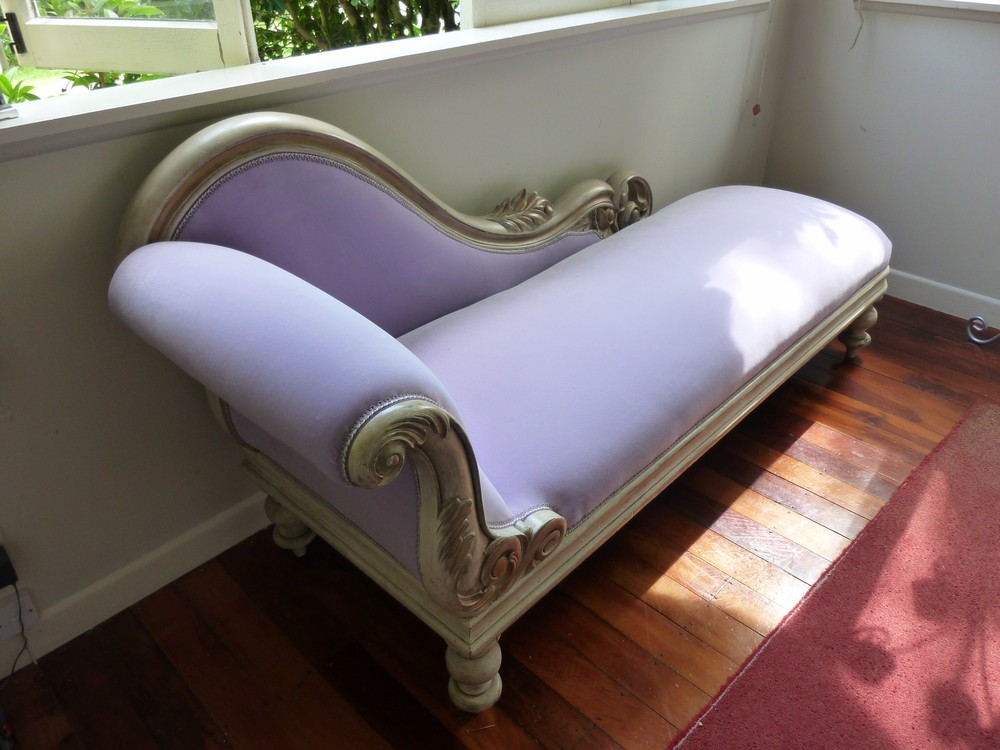 French Velvet Chaise