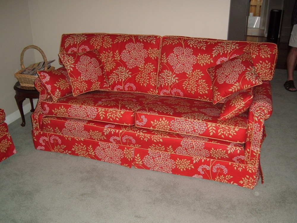 Re-Upholstered Sanderson Sofa