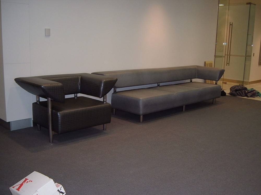 Custom-made Steel Tubing Reception Sofa & Chair