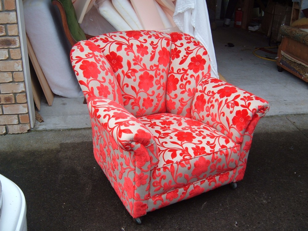 Re-Upholstered Arm Chair
