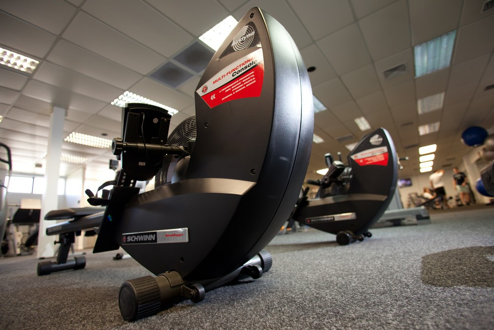 Burn Fitness provides three different types of rowing machine - water resistance, wind resistance and standard