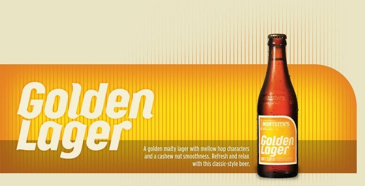 Golden Lager - malt lager with yellow hop and cashew