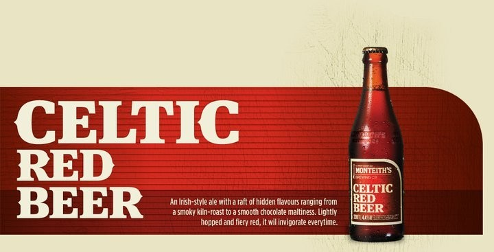 Celtic Red Beer - Irish style, smokey kiln, chocolate malt with added hop!