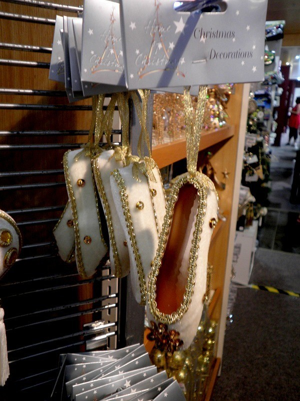 these lovely ballet shoe decorations are available at farmers