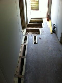 Replacing Rimu floor boards