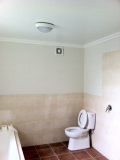 Complete bathroom renovation 1- walls, ceiling and floor