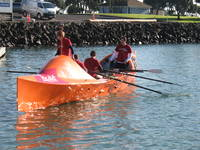 Team Gallagher test capsizing Moana.