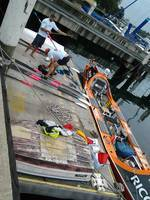 Packing the last bits and pieces onto the Moana